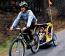 Infant Bike Trailer with Men's Bike