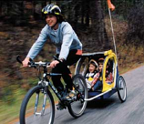 Infant Bike Trailer with Men's Bike