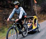 Infant Bike Trailer with Woman's Bike