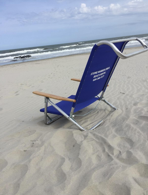 Low Reclining Beach Chair
